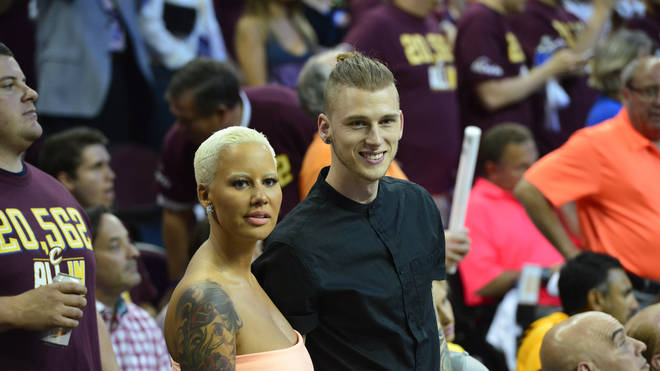 Amber Rose and Machine Gun Kelly at the 2015 NBA Finals - Cleveland Cavaliers v Golden State Warriors