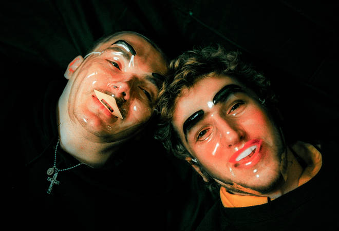 Daft Punk obscure their faces with masks in 1997
