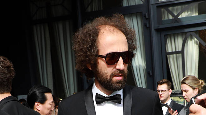 A rare sighting of what is claimed to be Daft Punk's Thomas Bangalter at Cannes Film Festival in 2019