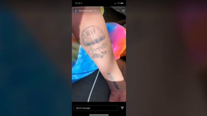 Alex Turner's ex Taylor Bagley shows-off savage break-up tattoo
