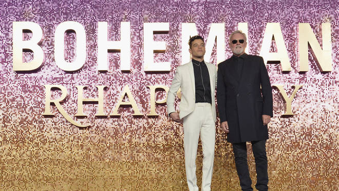 Rami Malek and Queen drummer Roger Taylor at the Bohemian Rhapsody World Premiere