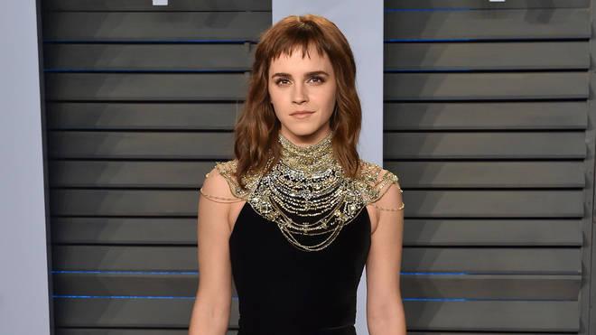 Emma Watson at the 2018 Vanity Fair Oscar party
