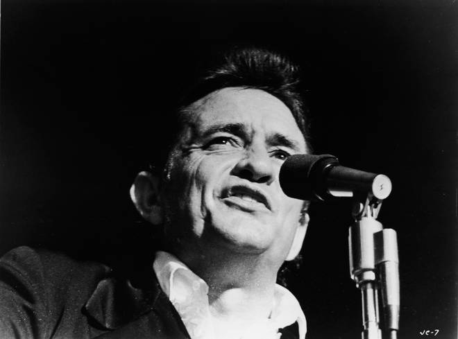 Johnny Cash performing live in 1969