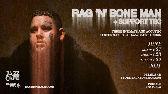 Rag'n'Bone Man announces intimate live dates