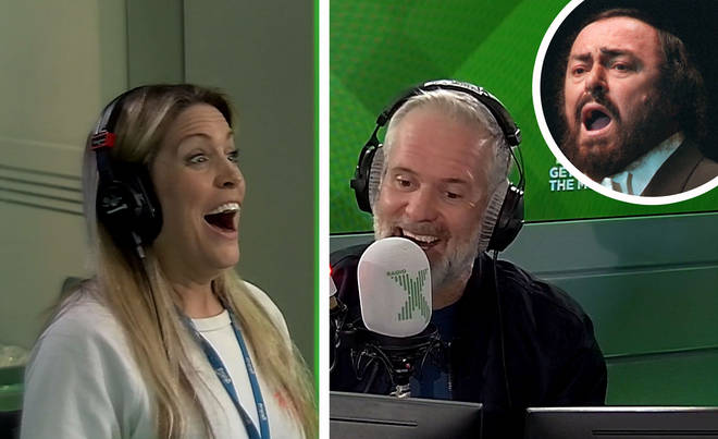 Rob sings Nessun Dorma in this week's Singalone on The Chris Moyles Show