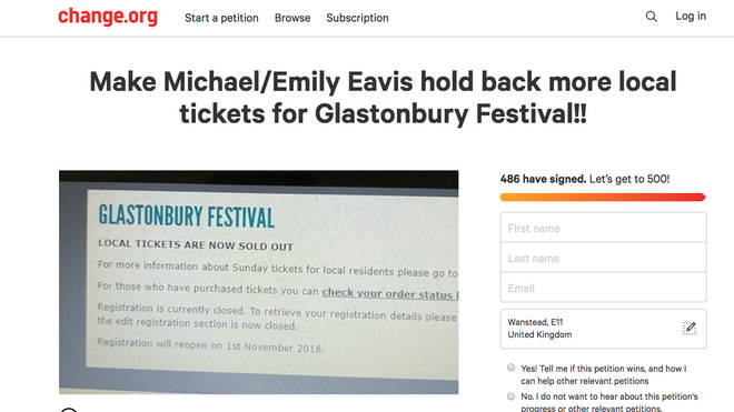 Local Glastonbury resident makes petition to hold back more local tickets for the festival