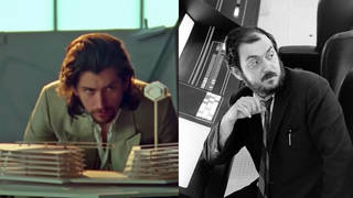 Alex Turner surveys his Tranquility Base Hotel + Casino model; Stanley Kubrick on the space station set in 2001: A Space Odyssey (1968)