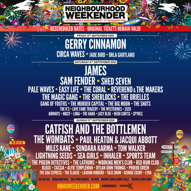 Neighbourhood Weekender 2021 festival line-up