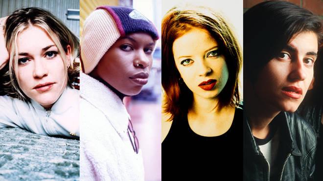 Catatonia's Cerys Matthews, Skunk Anansie's Skin, Shirley Manson of Garbage and Elastica's Justine Frischmann.
