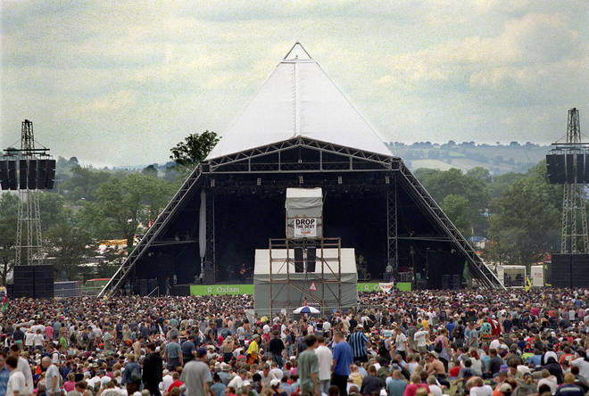 The all-new Pyramid Stage at Glastonbury in 2000