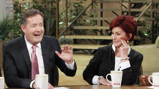 Piers Morgan and Sharon Osbourne on The Talk in 2013