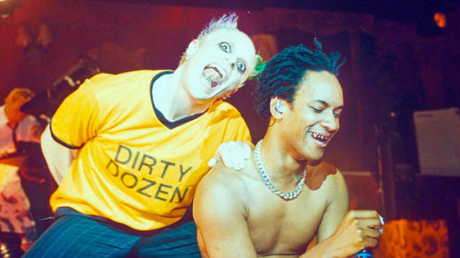 Keith Flint and Maxim of The Prodigy playing Brixton Academy in 1996