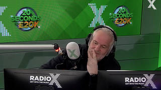 Chris Moyles shows disappointment at fan who fails 20 seconds to £20k