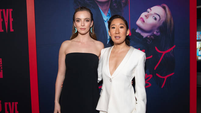 """Jodie Comer and Sandra Oh at BBC America And AMC&squot;s """"Killing Eve"""" Season 2 - Red Carpet"""