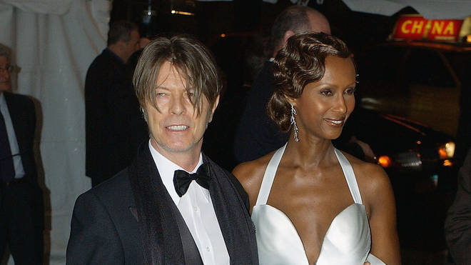 David Bowie and wife Iman at the 2003 Met Gala