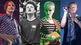 Great Irish musicians: Tim Wheeler of Ash, Bono of U2, Dolores O'Riordan of The Cranberries and Dermot Kennedy