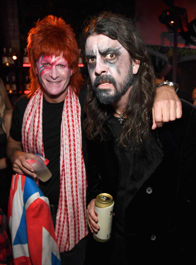 Rande Gerber and Foo Fighters Dave Grohl attend the Casamigos Halloween Party on October 26 2018