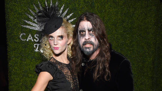 Jordyn Blum and Foo Fighters' Dave Grohl attend the Casamigos Halloween Party on October 26, 2018 in Beverly Hills, California