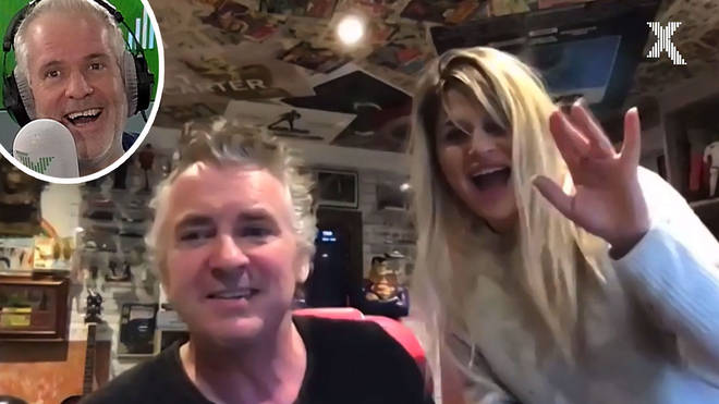 Shane Richie and his wife on The Chris Moyles Show