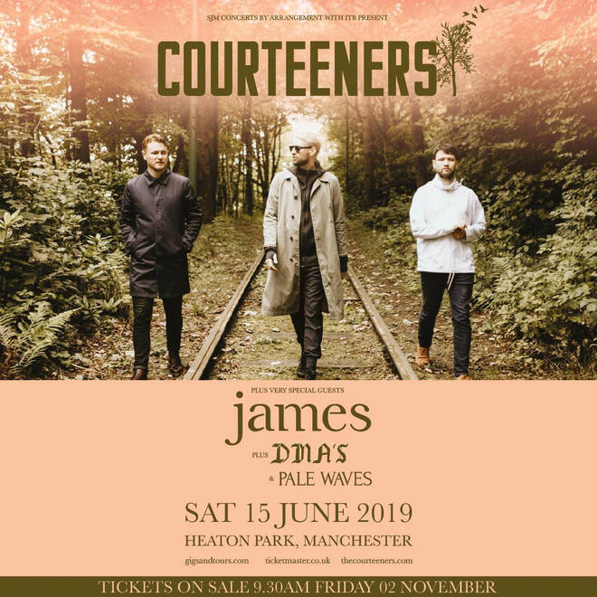 Courteeners' Heaton Park 2019 announcement poster