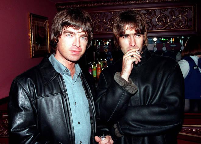 Oasis members Liam and Noel Gallagher in 1995