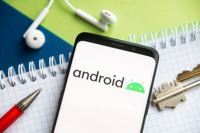Android phone stock image