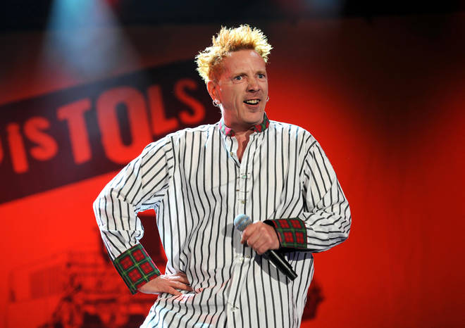 John Lydon, on stage with the Sex Pistols on their final tour. Isle Of Wight festival 2008