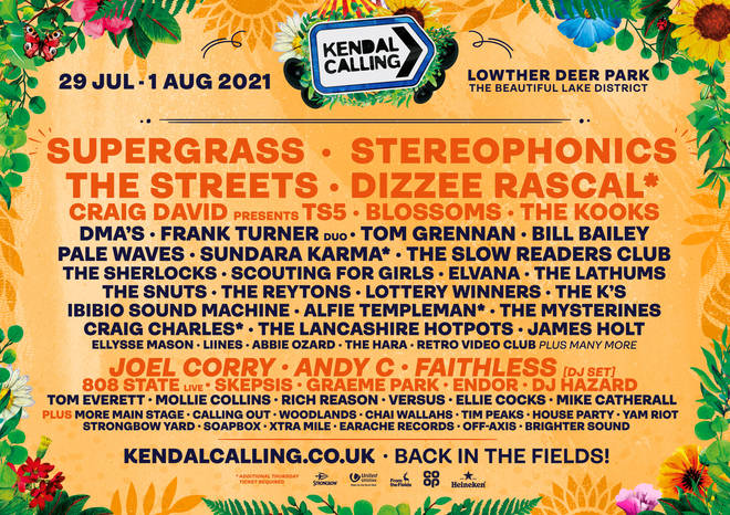 Kendal Calling 2021 poster