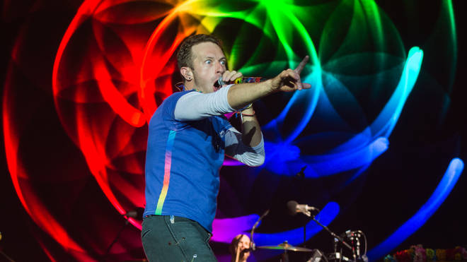 Chris Martin from Coldplay at Glastonbury Festival 2016 - Day 3