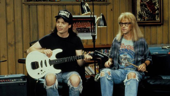 Wayne and Garth rock out in Wayne's World