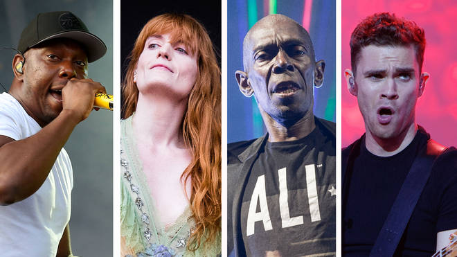 Dizzee Rascal, Florence Welch, Faithless' Maxi Jazz and Royal Blood's Mike Kerr