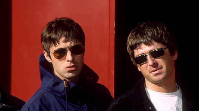 Oasis frontman and guitarist Liam And Noel Gallagher in 1997