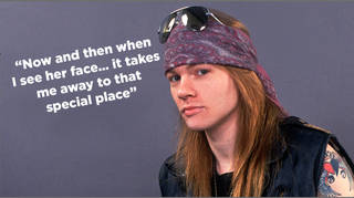 Axl Rose and one of his best-known lyrics. But which song is it from?