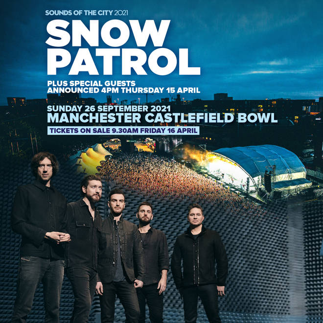 Snow Patrol will headline Sound of the City on Sunday 26 September