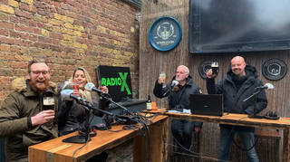 The Chris Moyles Show toasts pubs reopening in England