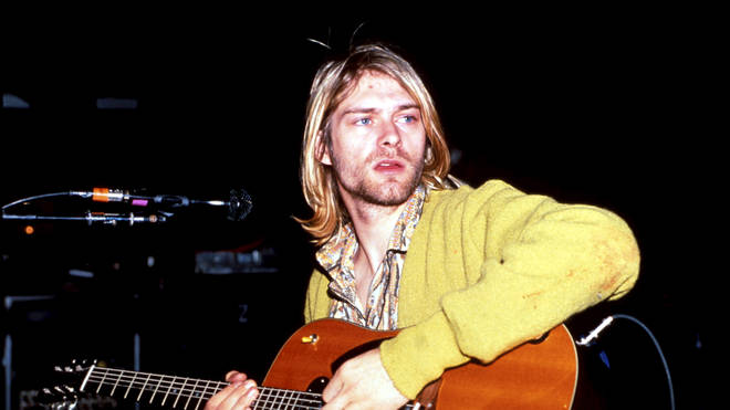 Nirvana's Kurt Cobain in 1990