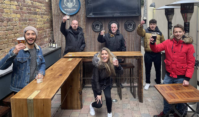 The Chris Moyles Show toasts pubs opening in England