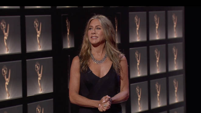 Jennifer Aniston during Walt Disney Television's Coverage of The 72nd Annual Emmy Awards