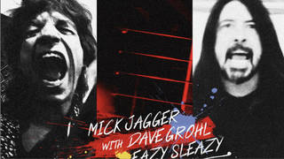Mick Jagger and Dave Grohl in the video for Eazy Sleazy