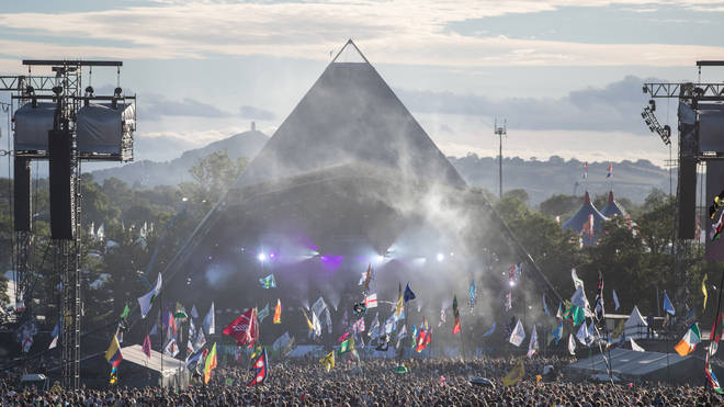 Glastonbury's Pyramid Stage in 2017