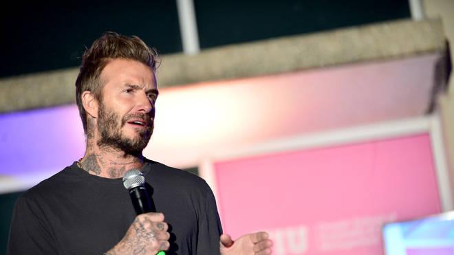 David Beckham Attends The David Grutman Experience: The Class