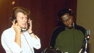 David Bowie and Luther Vandross in 1985
