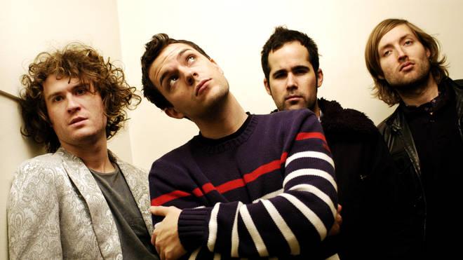 The Killers in 2005: David Keuning, Brandon Flowers, Ronnie Vannucci, Mark Stoermer