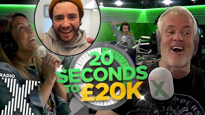 Jamie took the 20 secs to £20k challenge