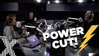 There's a brief power cut on The Chris Moyles Show