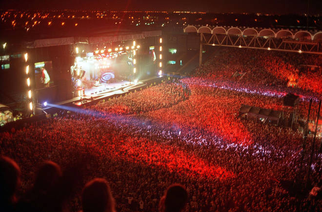 A view of the first night of Oasis at Maine Road, 27 April 1996