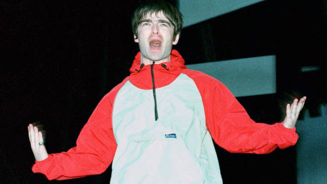Noel Gallagher at the first Oasis show at Maine Road 27 April 1996
