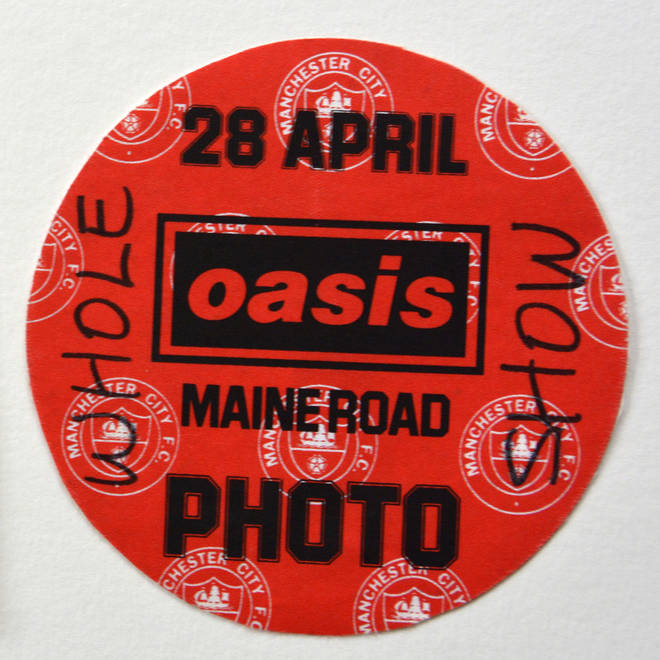 A photographer's pass from the second Maine Road Oasis show