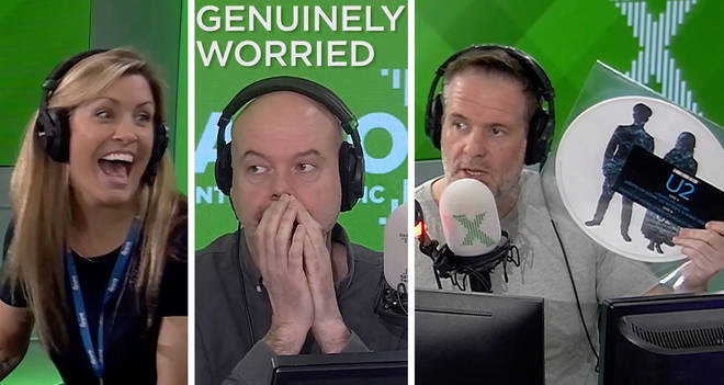Dom falls for The Chris Moyles Show U2 prank