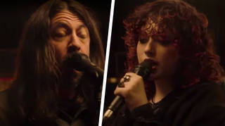 Dave Grohl and daughter Violet perform X's Nausea on Kimmel